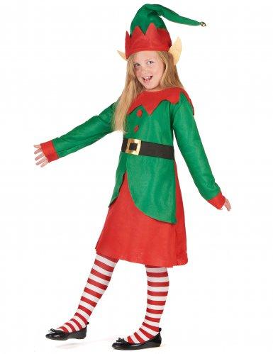 Costume da elfo di Natale per bambina-1