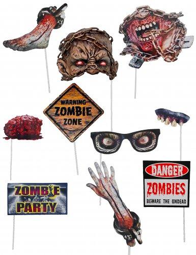 Kit photobooth 10 accessori zombie