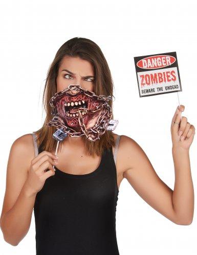 Kit photobooth 10 accessori zombie-1