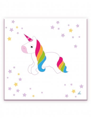 20 tovaglioli di carta unicorno bianco