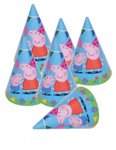 6 cappellini in cartone Peppa Pig™