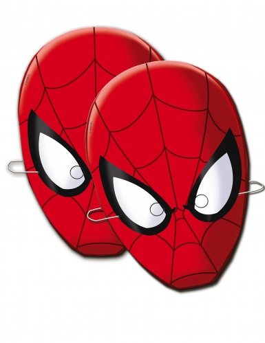 6 maschere in cartone Spiderman™