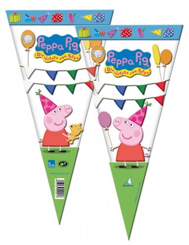 6 sacchetti triangolari Peppa Pig™