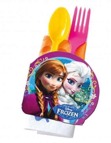 24 decorazioni per la tavola in cartone Frozen™-1