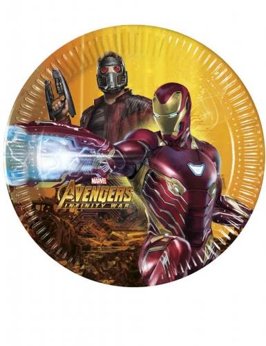 8 piattini in cartone Avengers Infinity War™ 20 cm