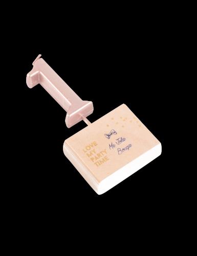 Candelina color oro rosa numero 1