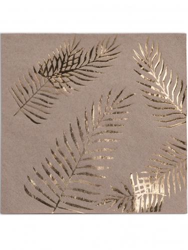 16 tovaglioli di carta Kraft Palme dorate