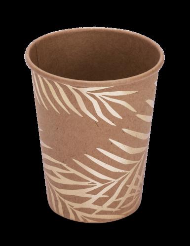 8 bicchieri in cartone kraft palme dorate