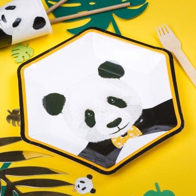 8 piatti in cartone panda 23 cm-1