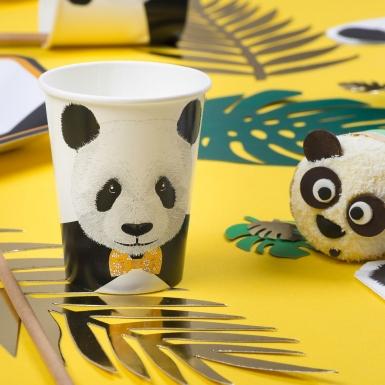 8 bicchieri in cartone panda-1