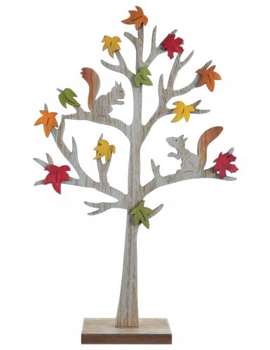 Albero in legno naturale con scoiattoli