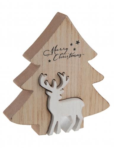 Decorazione in legno alberello con renna