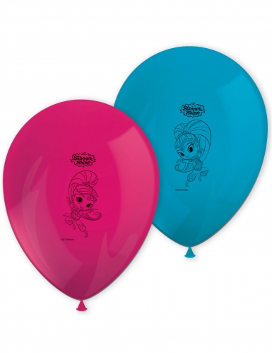 8 palloncini in lattice blu e rosa Shimmer & Shine™