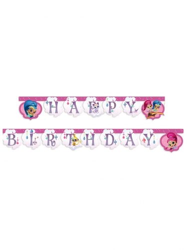Ghirlanda in cartone Happy Birthday Shimmer & Shine™
