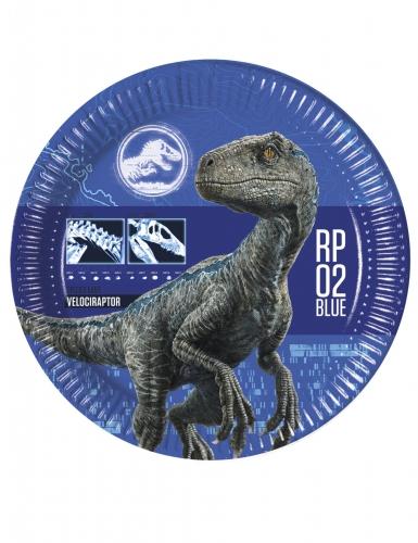 8 piatti in cartone Jurassic World 2™ 23 cm