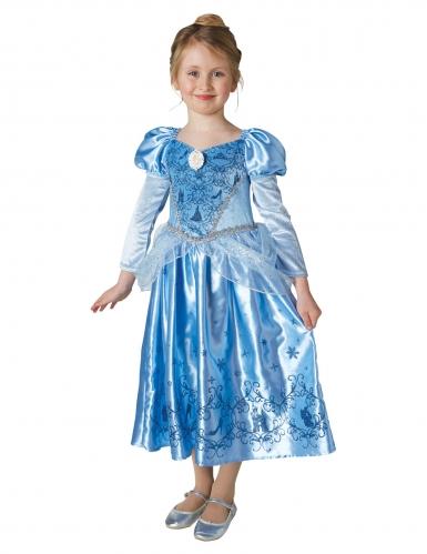 Travestimento da Cenerentola™ principessa dell'inverno con mantella per bambina-1