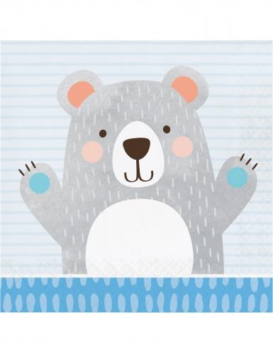 16 tovaglioli di carta piccolo orso grigio