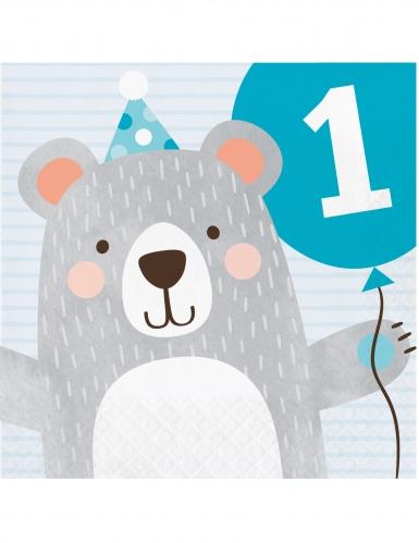 16 tovaglioli di carta piccolo orso 1 anno