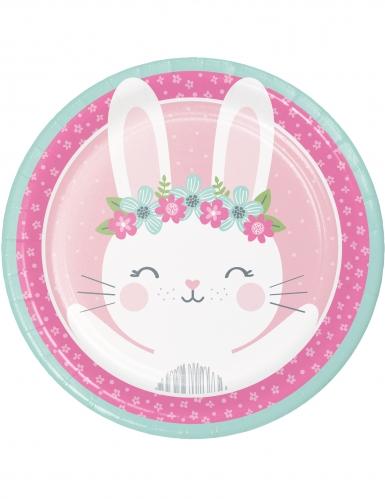 8 piatti in cartone coniglio 23 cm