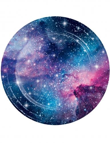 8 piatti in cartone galassia 23 cm
