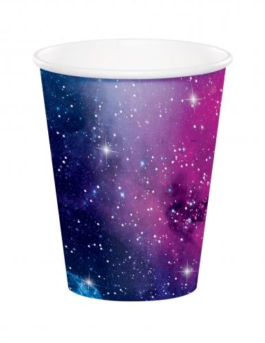8 bicchieri in cartone galassia