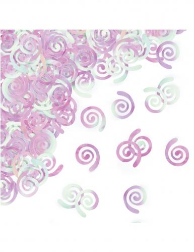 Coriandoli da tavolo spirali iridescenti