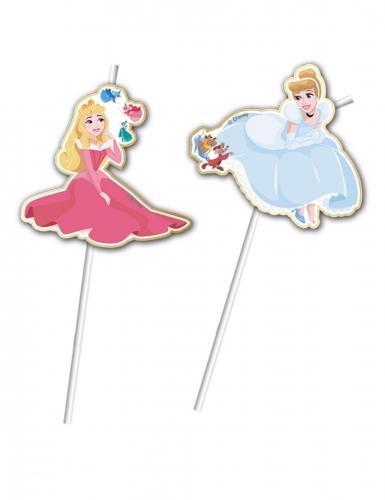 6 cannucce flessibili premium Principesse Disney™