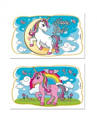 2 decorazioni di zucchero unicorno