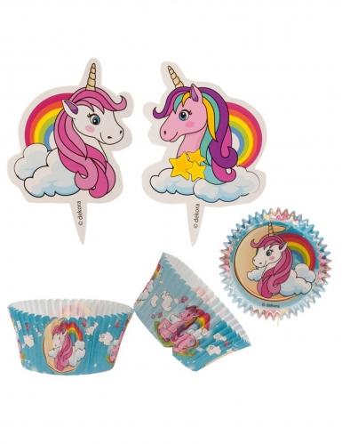 Kit per 24 cupcakes a tema unicorno