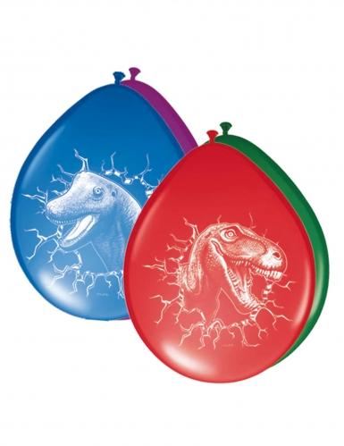 6 palloncini in lattice multicolor dinosauri