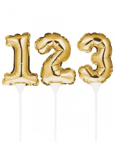 Decorazione per torta gonfiabile numero oro