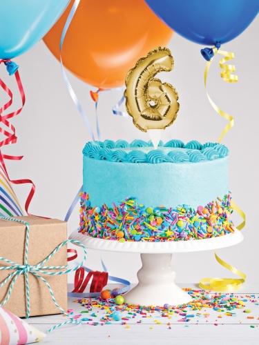 Decorazione per torta gonfiabile numero oro-2