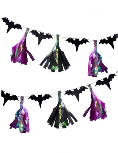Ghirlanda di pipistrelli e nappe iridescenti