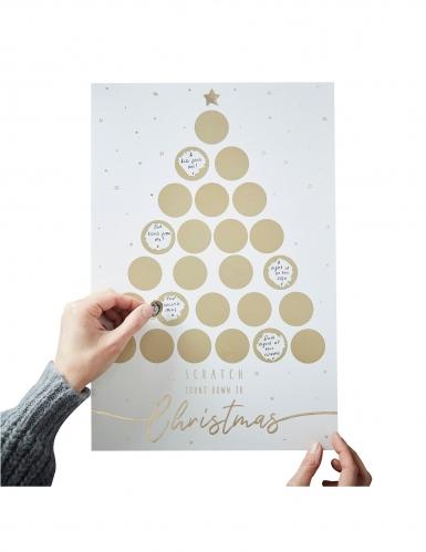 Calendario dell'Avvento personalizzabile da grattare