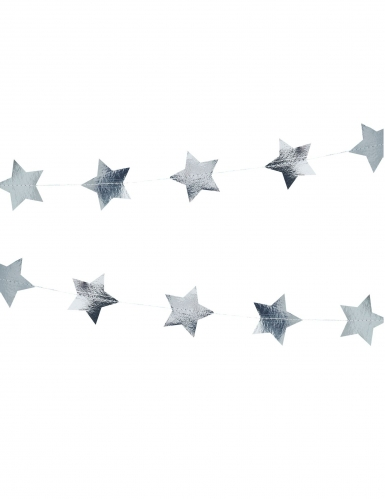 Ghirlanda in cartone stelle argento