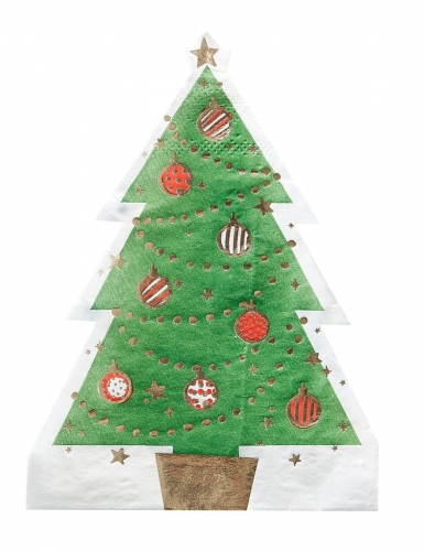 Alberi Di Natale Di Carta.12 Mini Tovaglioli Di Carta Albero Di Natale Su Vegaooparty Negozio Di Articoli Per Feste