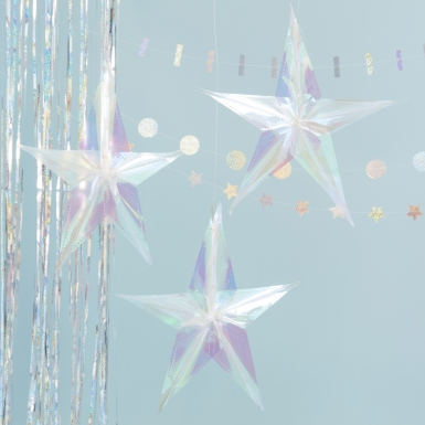 3 stelle da sospendere iridescenti-1