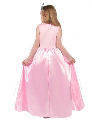 Costume lungo da principessa rosa bambina-2