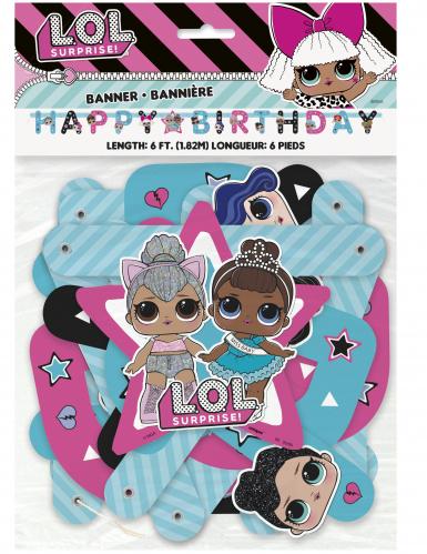 Ghirlanda di cartone Happy Birthday LOL Surprise™-1