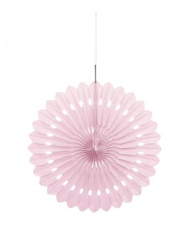 Rosone di carta color rosa cipria 40 cm