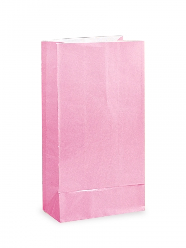 12 sacchetti regalo di carta rosa