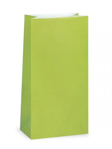 12 sacchetti regalo di carta color verde limone