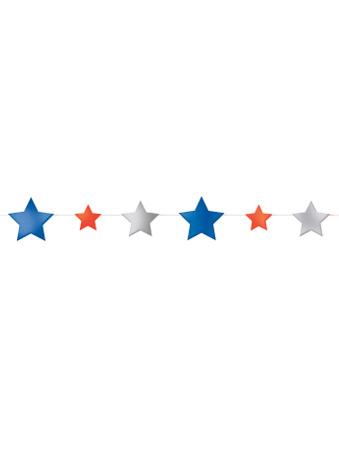Ghirlanda di stelle blu bianche e rosse