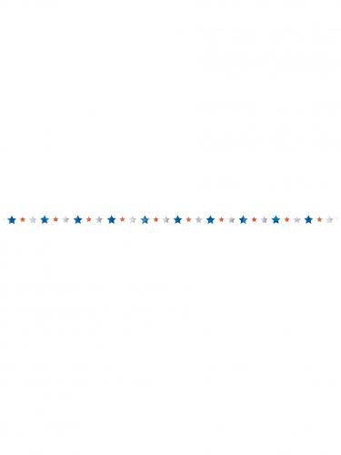 Ghirlanda di stelle blu bianche e rosse-1