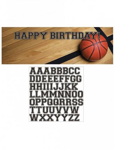 Banner personalizzabile con adesivi basket