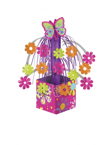 Centrotavola rosa cascata farfalle