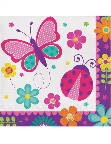 16 tovaglioli di carta farfalle e coccinelle