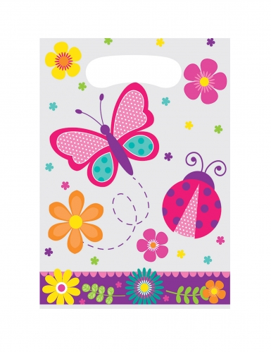 8 sacchetti regalo farfalle e coccinelle