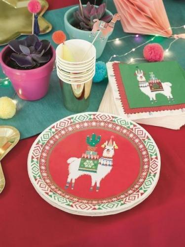 8 piatti in cartone lama natalizio 23 cm-1