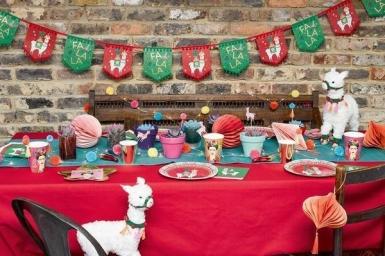 Ghirlanda in cartone lama natalizio-2